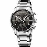 Calvin Klein CK City 都會紳士計時手錶-黑/43mm K2G27143