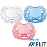 PHILIPS AVENT 粉彩系列矽膠安撫奶嘴0-6M+(單入)