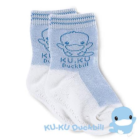 【KU.KU酷咕鴨】柔彩襪(藍)