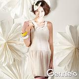 Gennies奇妮-可愛蝴蝶結孕婦背心洋裝(G1128)