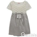 Gennies奇妮-典雅時尚拼接花朵鏤空針織孕婦上衣(兩色可選G3Y39)