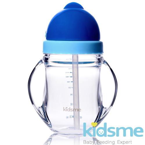 英國kidsme-晶透學飲杯240ml(藍)