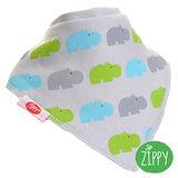 英國Zippy-幼兒時尚口水巾(河馬灰)