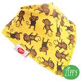 英國Zippy-幼兒時尚口水巾(猴子黃)