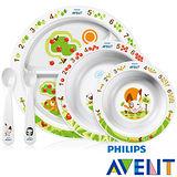 PHILIPS AVENT QQ兔學習餐具組(含食譜)