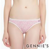 Gennies奇妮-環保染印花系列-低腰孕婦內褲(粉GB68)