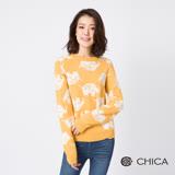 CHICA 童真奇趣翻滾大象羊毛針織衫(2色)