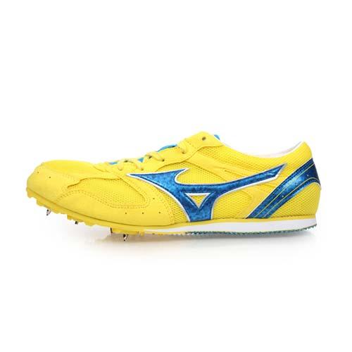(男女) MIZUNO GEO SPLASH LX-1 田徑釘鞋-中長距離 美津濃 黃寶藍