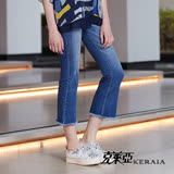 【克萊亞KERAIA】經典復古刷色喇叭牛仔褲