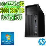 HP 惠普 Z240 繪圖工作站【E3-1225v5 8G 256G SSD 1TB DVDRW Quadro P600 Win7Pro 三年保固】