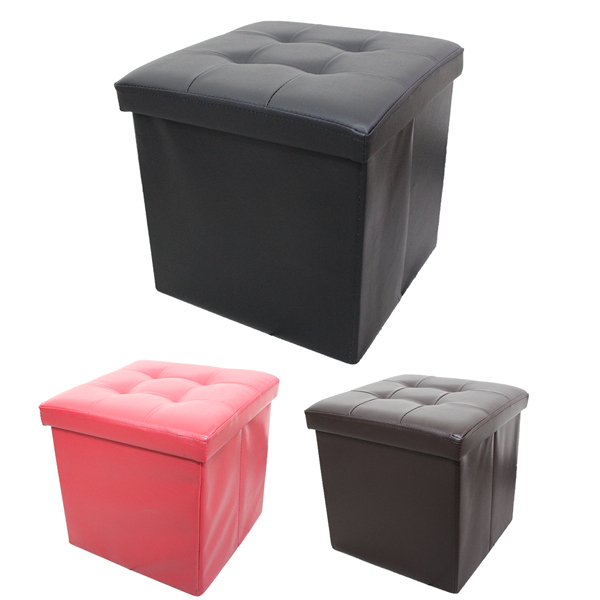 皮革沙發折疊收納椅 (三色)