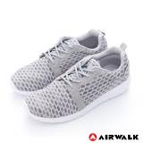 【美國 AIRWALK】 蜂巢式休閒慢跑鞋運動鞋-男款(灰)