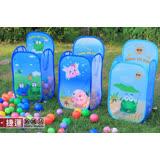 兒童彩球玩具摺疊收納洗衣網籃
