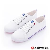 【美國 AIRWALK】美式百搭休閒帆布鞋--女款(白色)