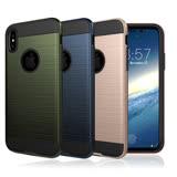 VXTRA 高仿金屬拉絲紋理 iPhone X 雙料手機殼