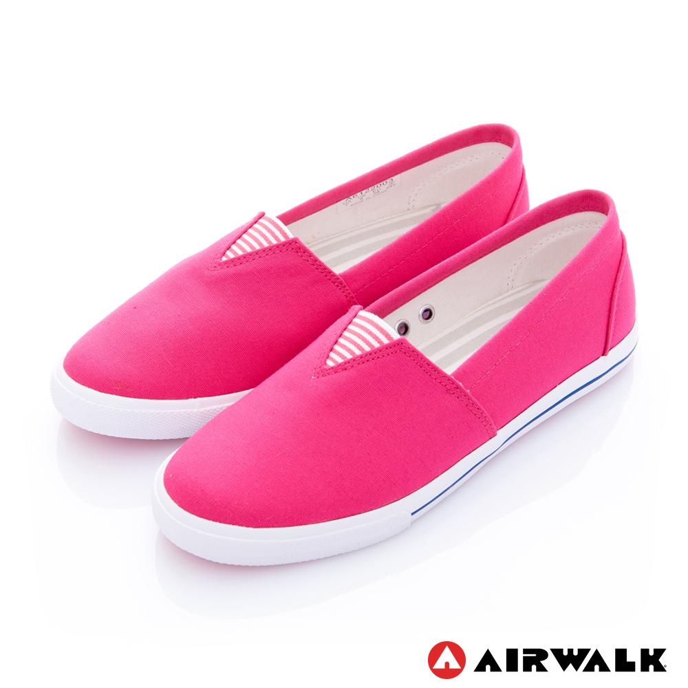 【美國 AIRWALK】百搭舒適休閒帆布鞋-女款(桃紅色)