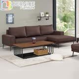 Bernice-坦卡司L型咖啡色布沙發椅(左右型可選)