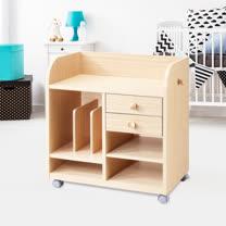 ALSKLIG 移動式書架/兒童移動收納櫃/雜誌架/書櫃/展示架