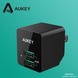 【AUKEY】PA-U32 2孔 12W 2孔旅行充電器