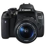Canon EOS 750D 18-55mm IS STM (公司貨) 贈送sandisk64G記憶卡+減壓背帶+專用電池+座充+UV保護鏡+吹球拭鏡布清潔組