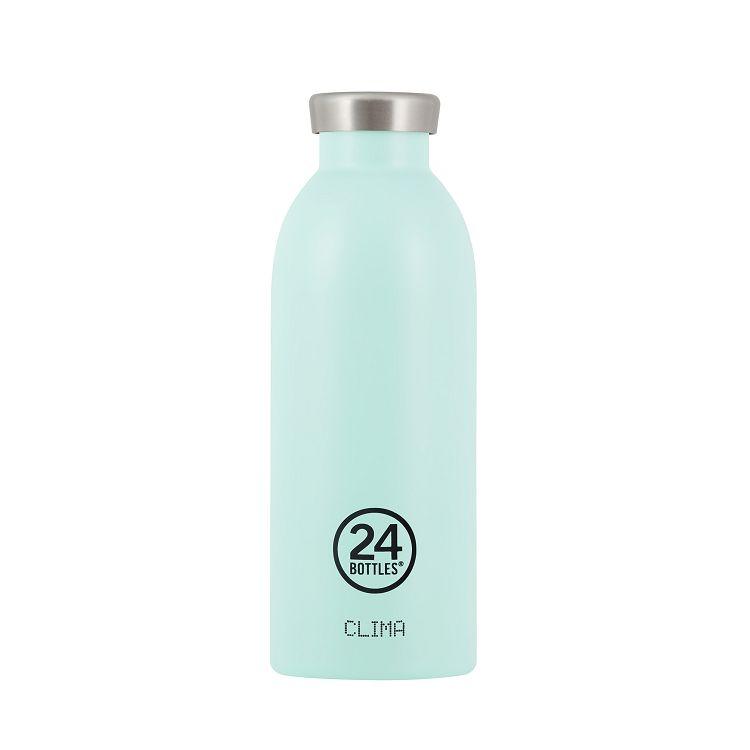 義大利 24Bottles Clima不銹鋼雙層保溫瓶 500ml - 天空藍