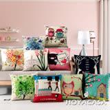 《HOYACASA 玩色時尚》日系麻布靠墊-多款任選