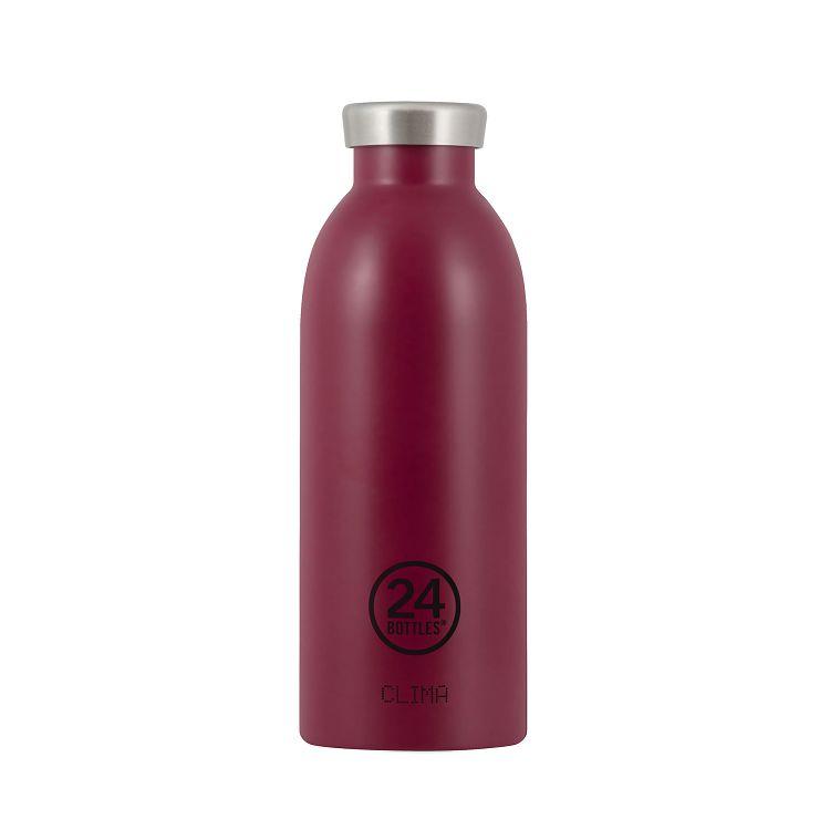 義大利 24Bottles Clima不銹鋼雙層保溫瓶 500ml - 酒釀紅