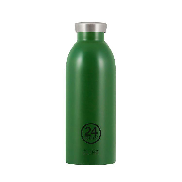 義大利 24Bottles Clima不銹鋼雙層保溫瓶 500ml - 森林綠
