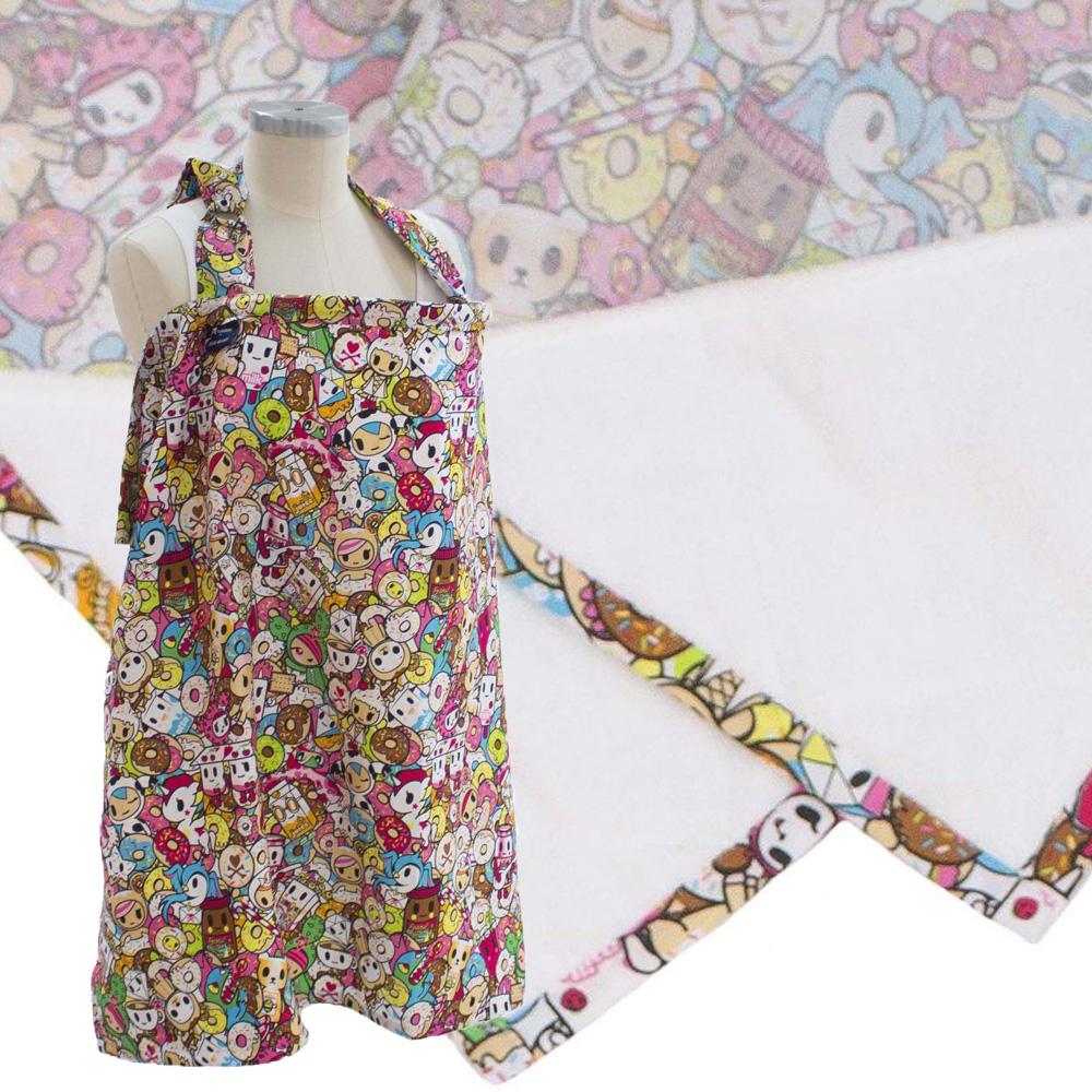 【Tokidoki 限量聯名款】美國 Bebe Au Lait 時尚哺乳巾 (甜甜圈共和國 純棉款)