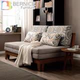 Bernice-倫特灰色實木布沙發床/雙人椅/二人座(送抱枕)