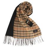 DAKS 經典格紋CAHSMERE羊毛混織圍巾-黑色