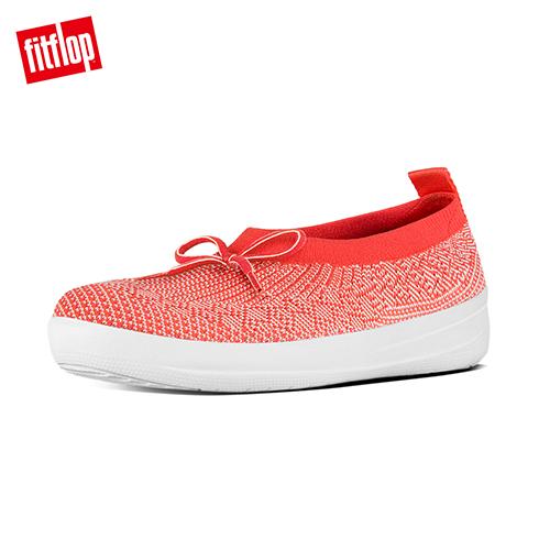 FitFlop™~ 女款 UBERKNIT™ SLIP~ON BALLERINA~珊瑚紅