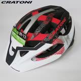 CRATONI 德國專業品牌 C-HAWK 登山車用安全帽-白黑紅