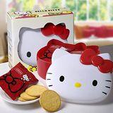 Hello Kitty Q臉造型餅乾盒(2盒) 盒