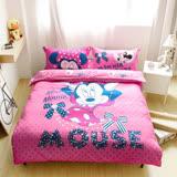【米妮】迪士尼卡通床包兩用被套組-雙人加大
