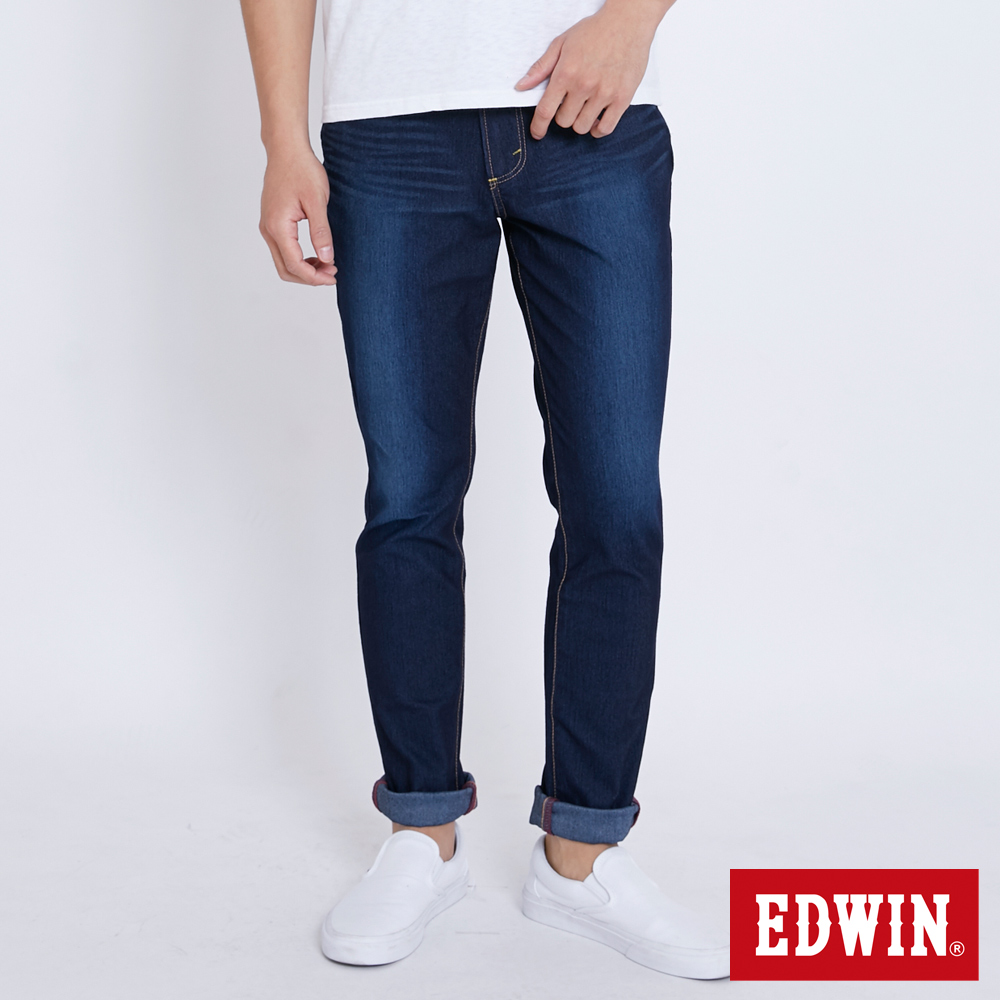 EDWIN JERSEYS 迦績AB牛仔褲-男-原藍磨