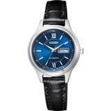 CITIZEN 星辰 爵士機械女錶-藍x黑/29mm PD7150-03L