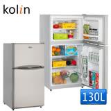 送快煮壺【Kolin歌林】130L雙門小冰箱KR-213S01(含拆箱定位)