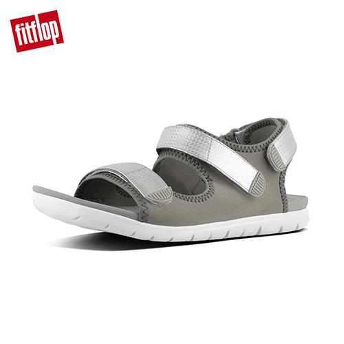 FitFlop - (女款)NEOFLEX BACK-STRAP SANDALS-淺灰/銀色
