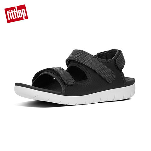 FitFlop - (女款)NEOFLEX BACK-STRAP SANDALS-黑色