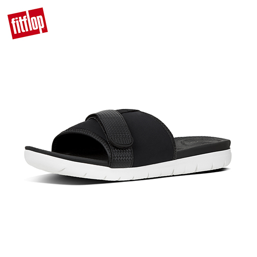 FitFlop - (女款)NEOFLEX SLIDE SANDALS-黑色