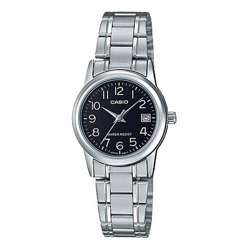 CASIO 卡西歐 指針女錶 不鏽鋼錶帶 防水 日期顯示 LTP-V002D-1B