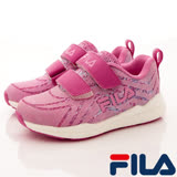 FILA頂級童鞋--夜光慢跑款-822R-202-桃(17cm~20cm)