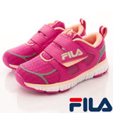 FILA頂級童鞋--反光設計慢跑款-825R-225桃粉-(17cm~22cm)