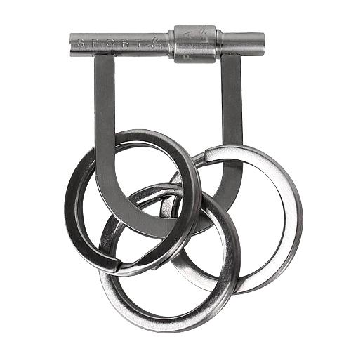 agnes b. - Sport b.不鏽鋼鑰匙圈(銀)