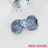 Red House 蕾赫斯-牛仔蝴蝶結胸針(藍色)