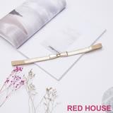 Red House 蕾赫斯-蝴蝶結伸縮皮帶(金色)