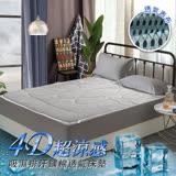 【三浦太郎】吸濕排汗4D立體透氣床墊-雙人/2色任選(B0055-M)