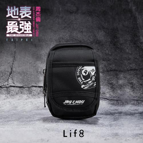 【Life8】周杰倫地表最強官方周邊商品 多層收納  小物腰包-06409-黑