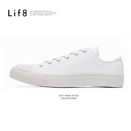 【Life8】 馬卡龍帆布繽紛加硫休閒鞋